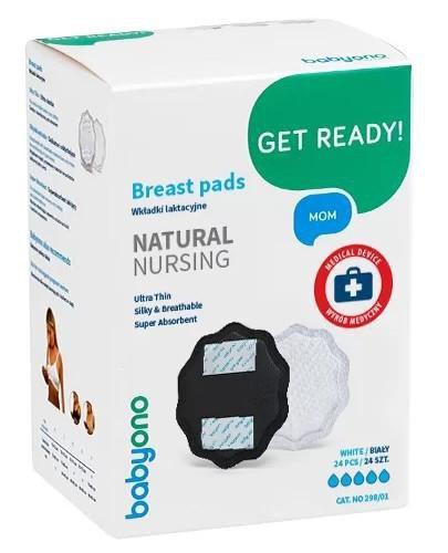 Babyono Natural Nursing wkładki laktacyjne czarne 24 sztuki [298/02]