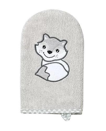 Babyono myjka bambusowa dla dzieci i niemowląt szara 1 sztuka [347/03]