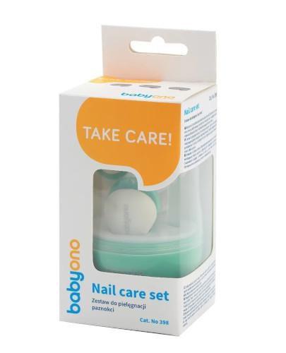 Babyono zestaw do pielęgnacji paznokci dla dzieci i niemowląt zielony 1 komple...