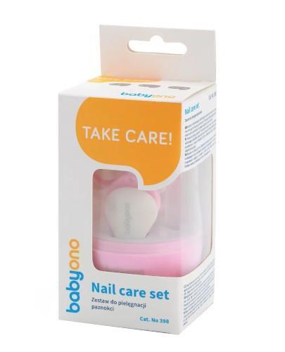 Babyono zestaw do pielęgnacji paznokci dla dzieci i niemowląt różowy 1 komple...