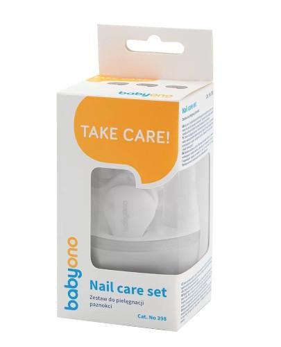 Babyono zestaw do pielęgnacji paznokci dla dzieci i niemowląt szary 1 komple...