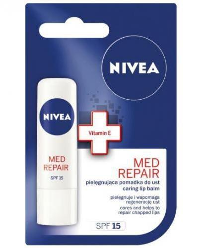 Nivea Med Repair pielęgnująca pomadka do ust SPF15 4,8 g