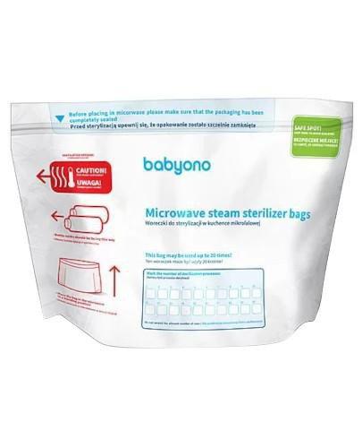 Babyono woreczki do sterylizacji w kuchence mikrofalowej 5 sztuk  [KUP 3 produkty Babyon...