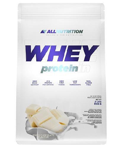 Allnutrition Whey Protein odżywka białkowa o smaku białej czekolady 908 g