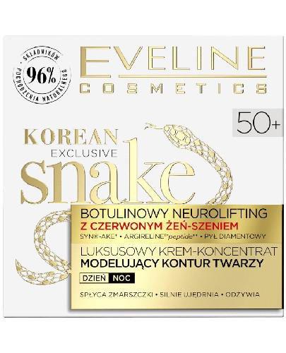Eveline Exclusive Snake krem-koncentrat modelujący kontur twarzy 50+ 50 ml