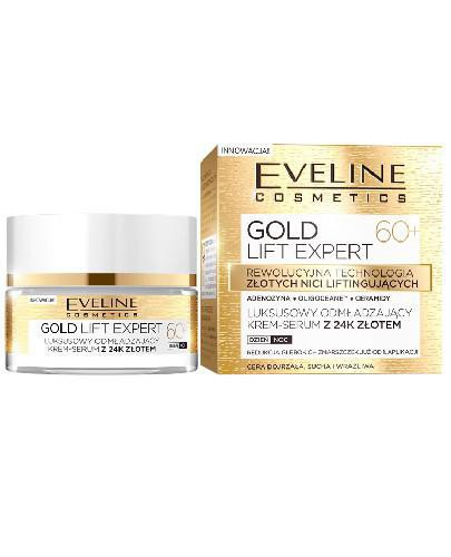 Eveline Gold Lift Expert odmładzający krem-serum z 24k złotem 60+ 50 ml