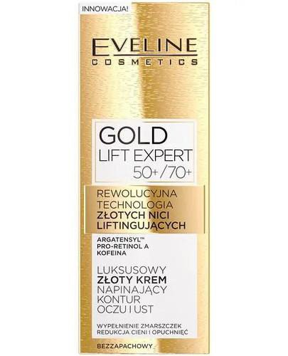 Eveline Gold Lift Expert złoty krem napinający kontur oczu i ust 50+/70+ 15 ml