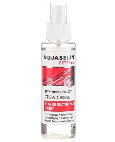 Aquaselin Extreme płyn wirusobójczy 74% alkoholu do dezynfekcji skóry 100 ml