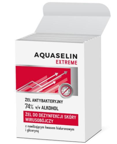 Aquaselin Extreme żel antybakteryjny w saszetkach 74% alkoholu 10 sztuk