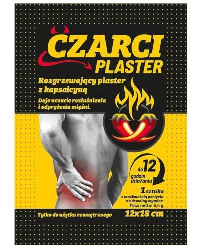 Czarci Plaster rozgrzewający plaster z kapsaicyną 12 x 18 cm 1 sztuka