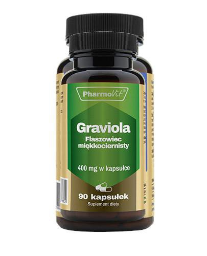 Graviola Flaszowiec miękkociernisty 400 mg 90 kapsułek PharmoVit
