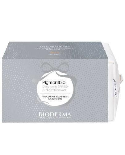 Bioderma Pigmentbio krem na dzień 40 ml + krem na noc 50 ml + kosmetyczka [ZESTAW]