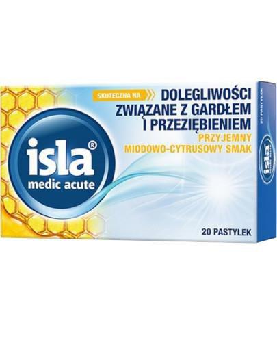 Isla Medic Acute o smaku miodowo-cytrusowym 20 pastylek