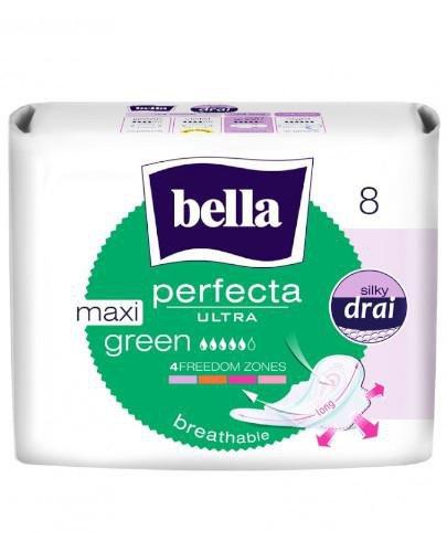 Bella Perfecta Ultra Maxi Green wydłużone podpaski supercienkie z osłonkami bocznymi 8 ...