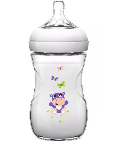 Avent Philips Natural butelka dla niemowląt 1m+ hipopotam 260 ml SCF070/22