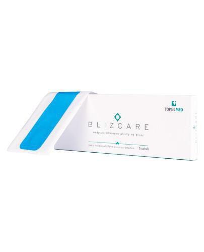 Blizcare medyczny silikonowy plaster na blizny 25 cm x 5 cm 5 sztuk