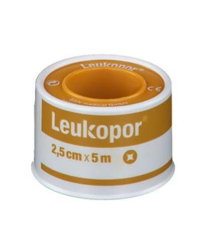 Leukopor plaster mocujący 2,5 cm x 5 m 1 sztuka