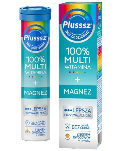 Plusssz 100% Multiwitamina + Magnez 20 tabletek musujących