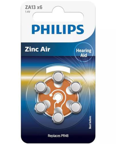 Philips Zinc Air baterie do aparatów słuchowych 6 sztuk [ZA13B6A/10]  whited-out