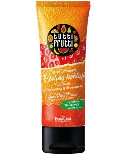 Farmona Tutti Frutti wygładzający peeling koktajl do dłoni pomarańcza i truskawka 75 g