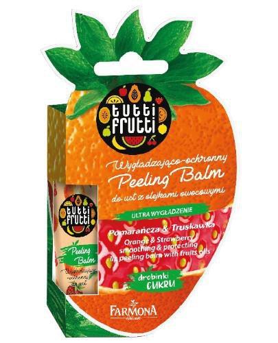 Farmona Tutti Frutti wygładzająco ochronny peeling balm do ust z olejkami owocowymi poma...