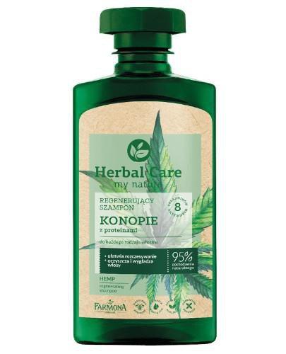 Farmona Herbal Care regenerujący szampon konopie z proteinami 330 ml