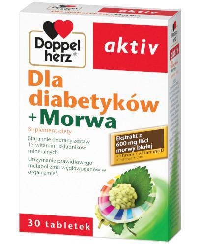 DoppelHerz Aktiv Dla diabetyków + Morwa 30 tabletek