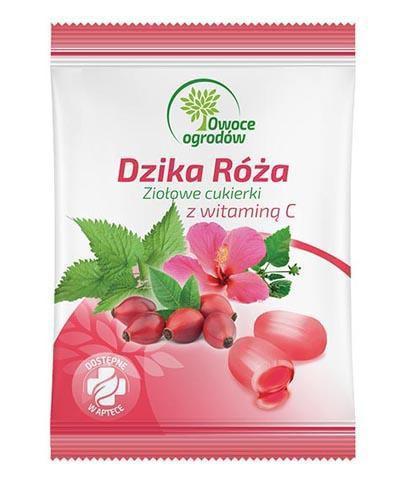 Owoce Ogrodów Dzika róża ziołowe cukierki z witaminą C 60 g