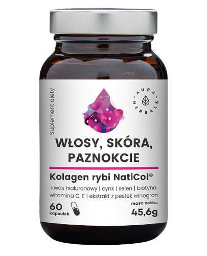 Aura Herbals Włosy, skóra, paznokcie kolagen rybi NatiCol 60 tabletek