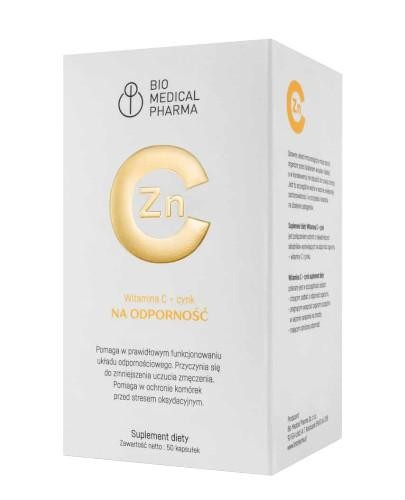 Witamina C + Cynk 50 kapsułek Bio Medical Pharma