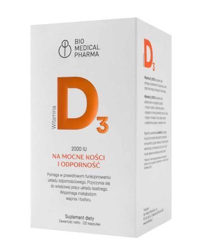 Witamina D 2000 IU 120 kapsułek Bio Medical Pharma