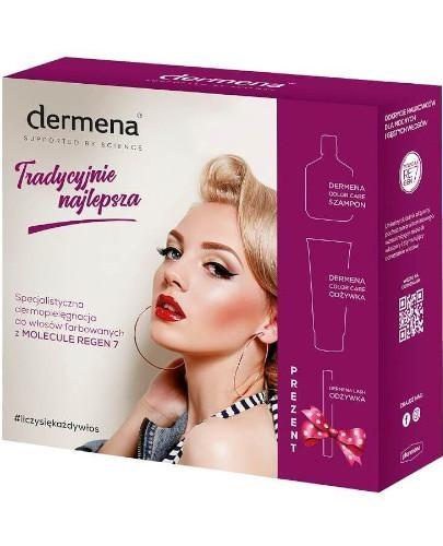 Dermena Color Care szampon 200 ml + odżywka 200 ml + odżywka lash 11 ml [ZESTAW]