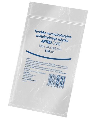 Apteo torebka termoizolacyjna wielokrotnego użytku 130 mm x 70 mm x 220 mm 500 ml