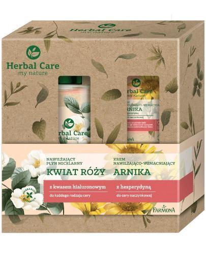 Farmona Herbal Care nawilżający płyn micelarny kwiat róży 400 ml + nawilżająco-wzma...