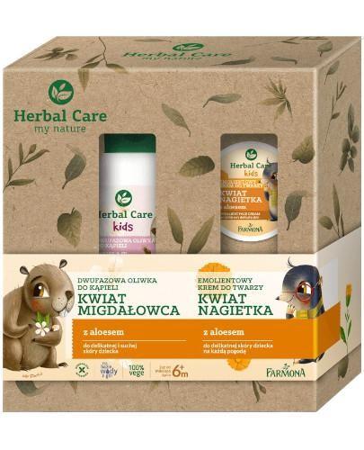 Farmona Herbal Care emolientowy krem do twarzy kwiat nagietka 50 ml +  dwufazowa oliwka d...