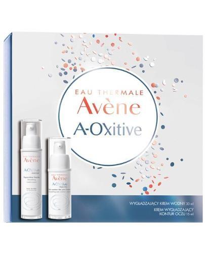 Avene A-Oxitive Wygładzający krem wodny 30 ml + krem wygładzający kontur oczu 15 ml [Z...
