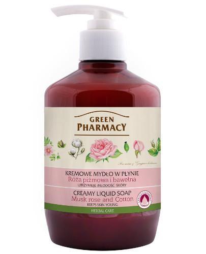 Green Pharmacy mydło w płynie róża piżmowa i bawełna 460 ml