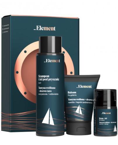 Vis Plantis Element Men szampon i żel pod prysznic dla mężczyzn 400 ml + krem-żel do t...
