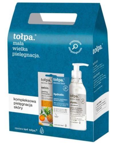 Tołpa Dermo Face Physio żel micelarny do mycia twarzy i oczu 195 ml + Hydrativ głębok...