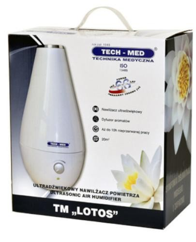 Tech-Med TM LOTOS ultradźwiękowy nawilżacz powietrza z jonizatorem czarny 1 sztuka