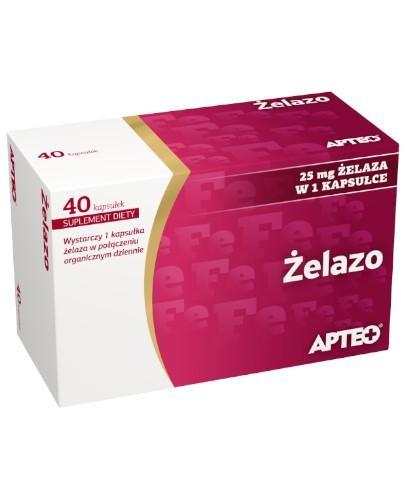 Apteo Żelazo 25 mg 40 kapsułek