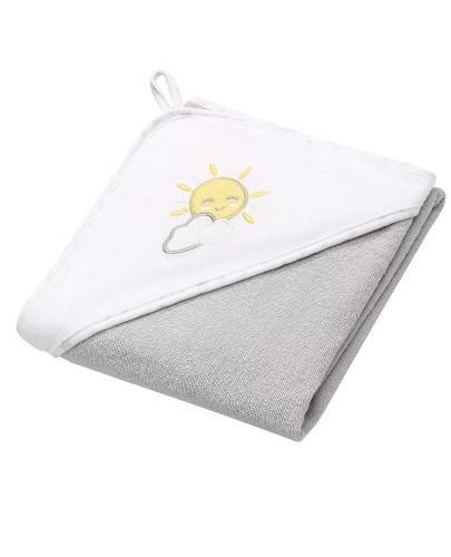 BabyOno okrycie kąpielowe frotte z kapturem 100 x 100 cm Słońce 1 sztuka [142/08]