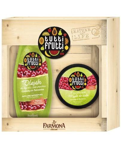 Farmona Tutti Frutti olejek do kąpieli i pod prysznic gruszka żurawina 425 ml + masło d...
