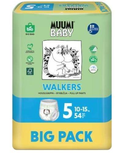 Muumi Baby 5 Walkers 10-15kg jednorazowe pieluchomajtki dla dzieci 54 sztuki
