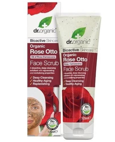 Dr.Organic Rose peeling do twarzy z olejkiem różanym 125 ml
