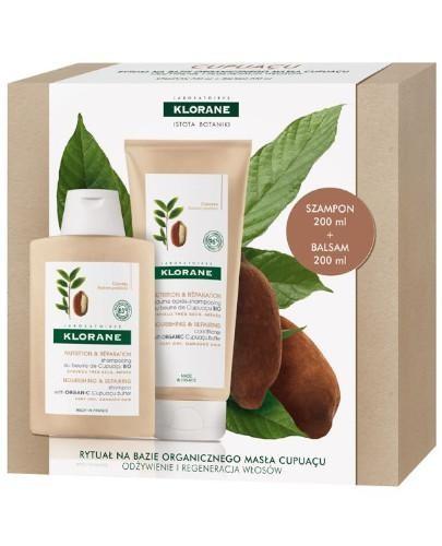 Klorane szampon na bazie organicznego masła Cupuacu 200 ml + balsam do włosów na bazie ...