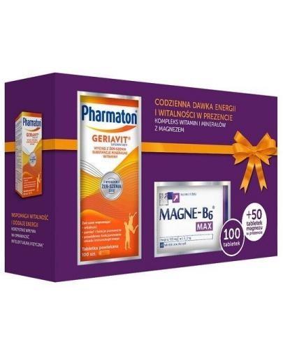Pharmaton Geriavit 100 tabletek + Magne B6 Max 50 tabletek [ZESTAW]