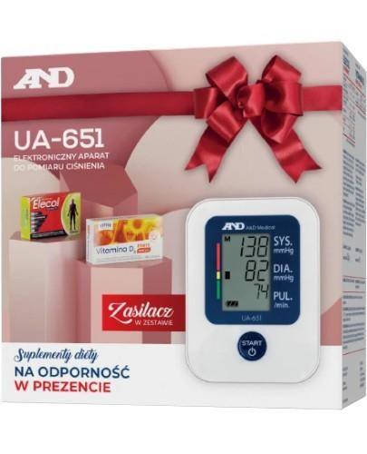 Diagnosis AND UA-651 ciśnieniomierz automatyczny naramienny z zasilaczem 1 sztuka + Eleco...
