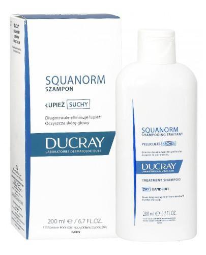 Ducray Squanorm szampon przeciwłupieżowy łupież suchy 200 ml