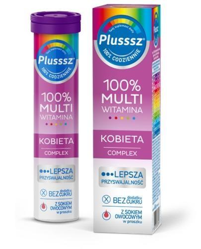 Plusssz 100% Multiwitamina Kobieta Complex 20 tabletek musujących